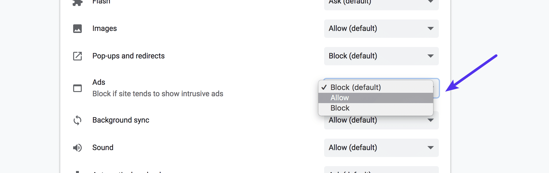 Allow Chrome Ad Blocker
