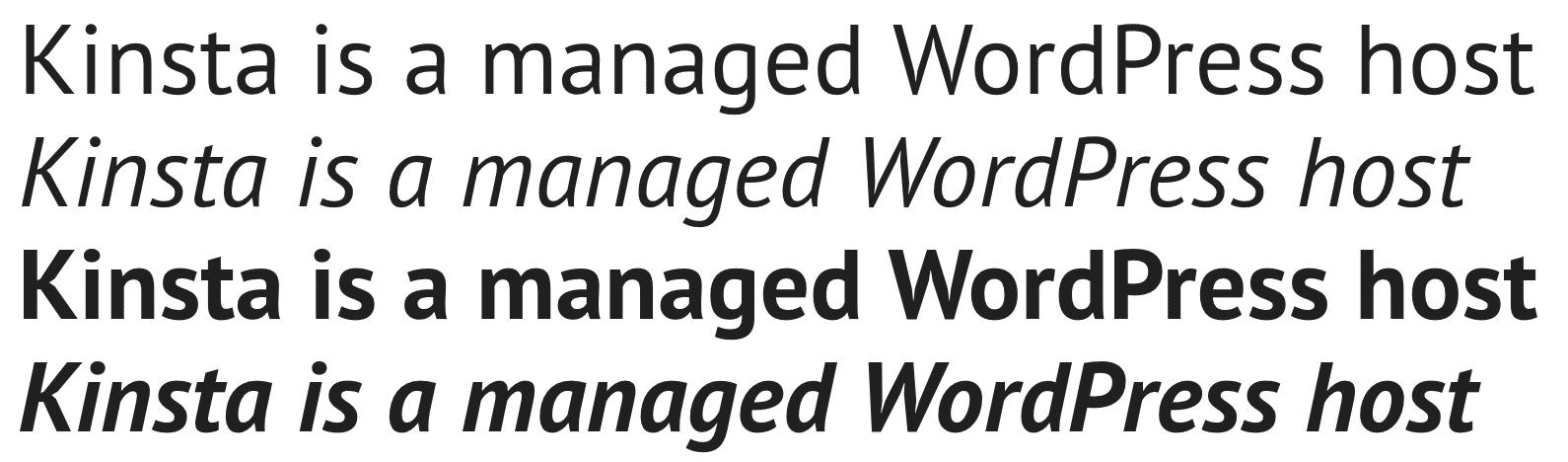 PT Sans Google font