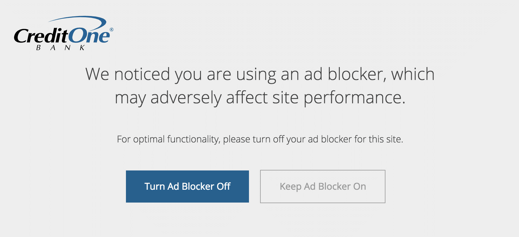 Using ad blocker notification