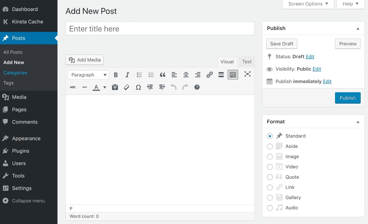 Classic Editor default