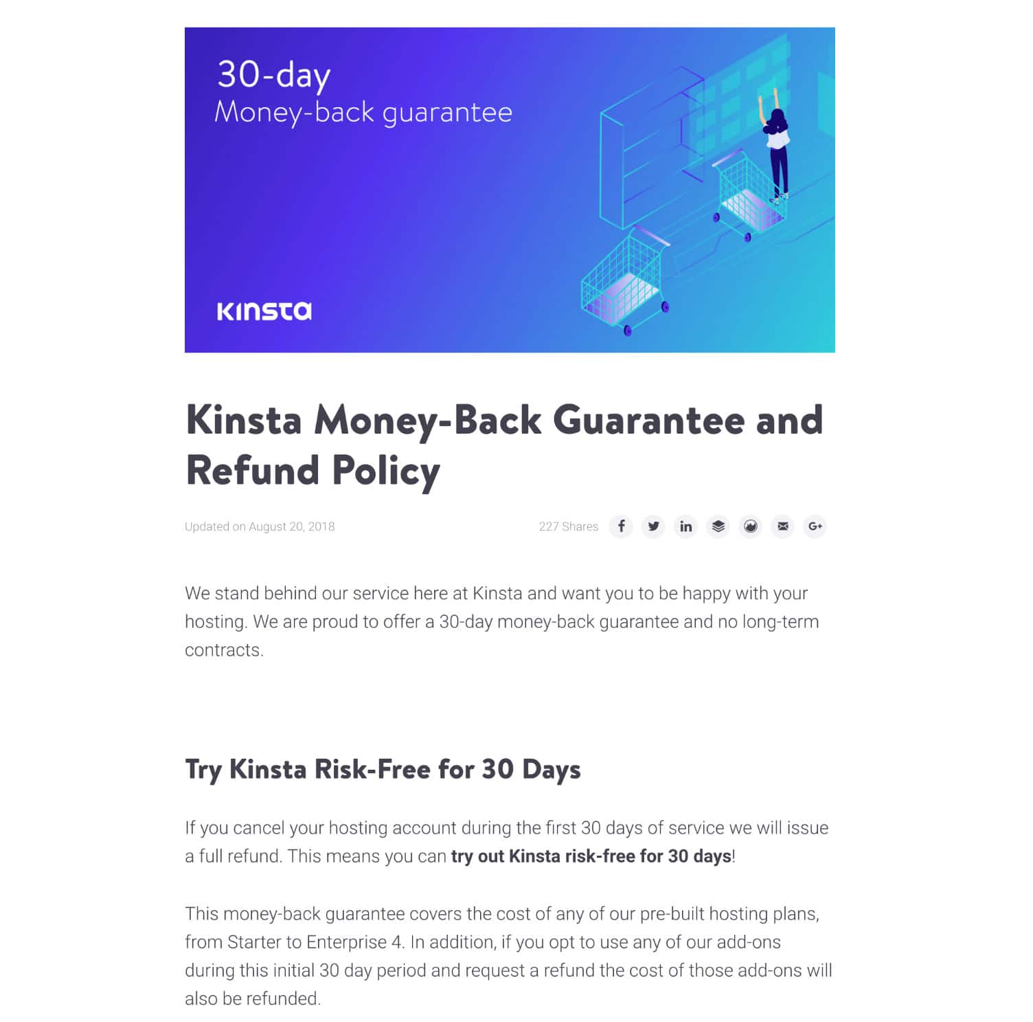 Kinsta refunds