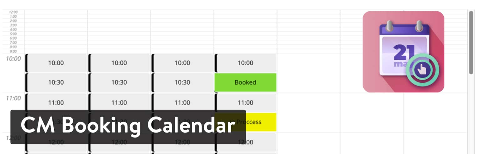 CM Booking Calendar plugin
