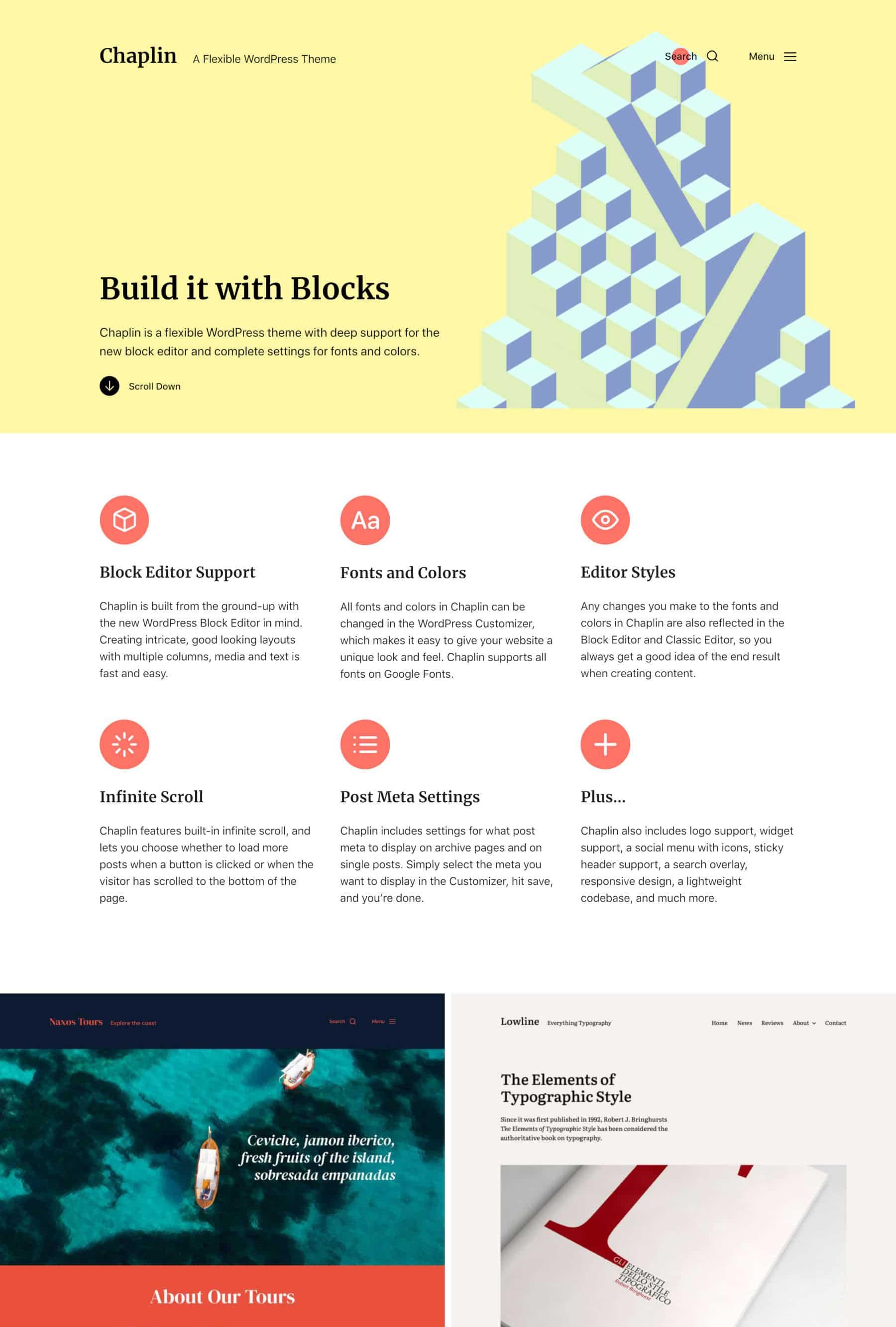 Chaplin WordPress theme