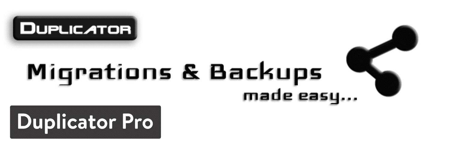 WordPress Duplicator Pro plugin