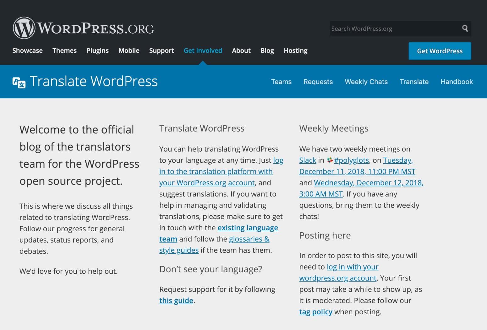 WordPress Polygots