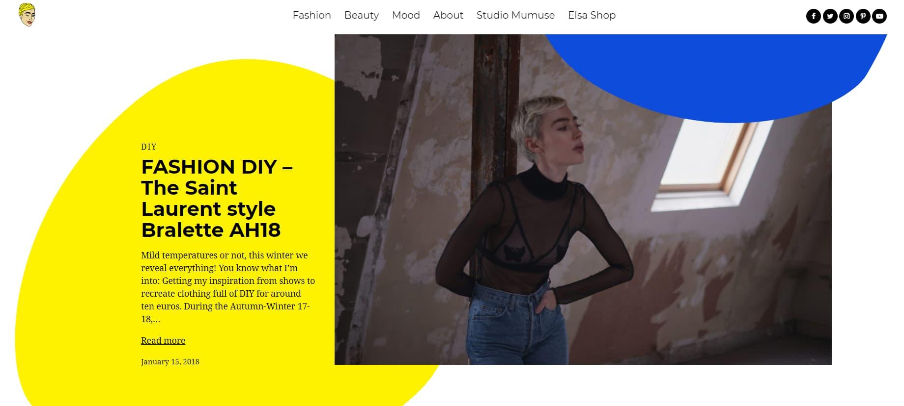 Portfolio website blog