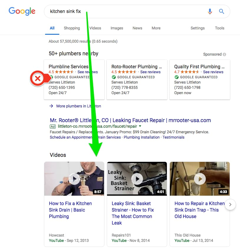Searching for problem fix - SERP