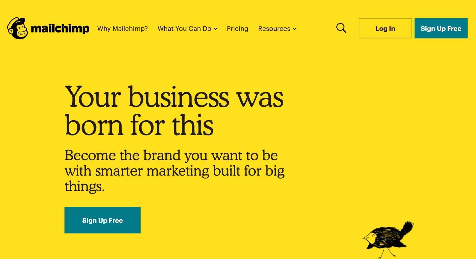 MailChimp email marketing