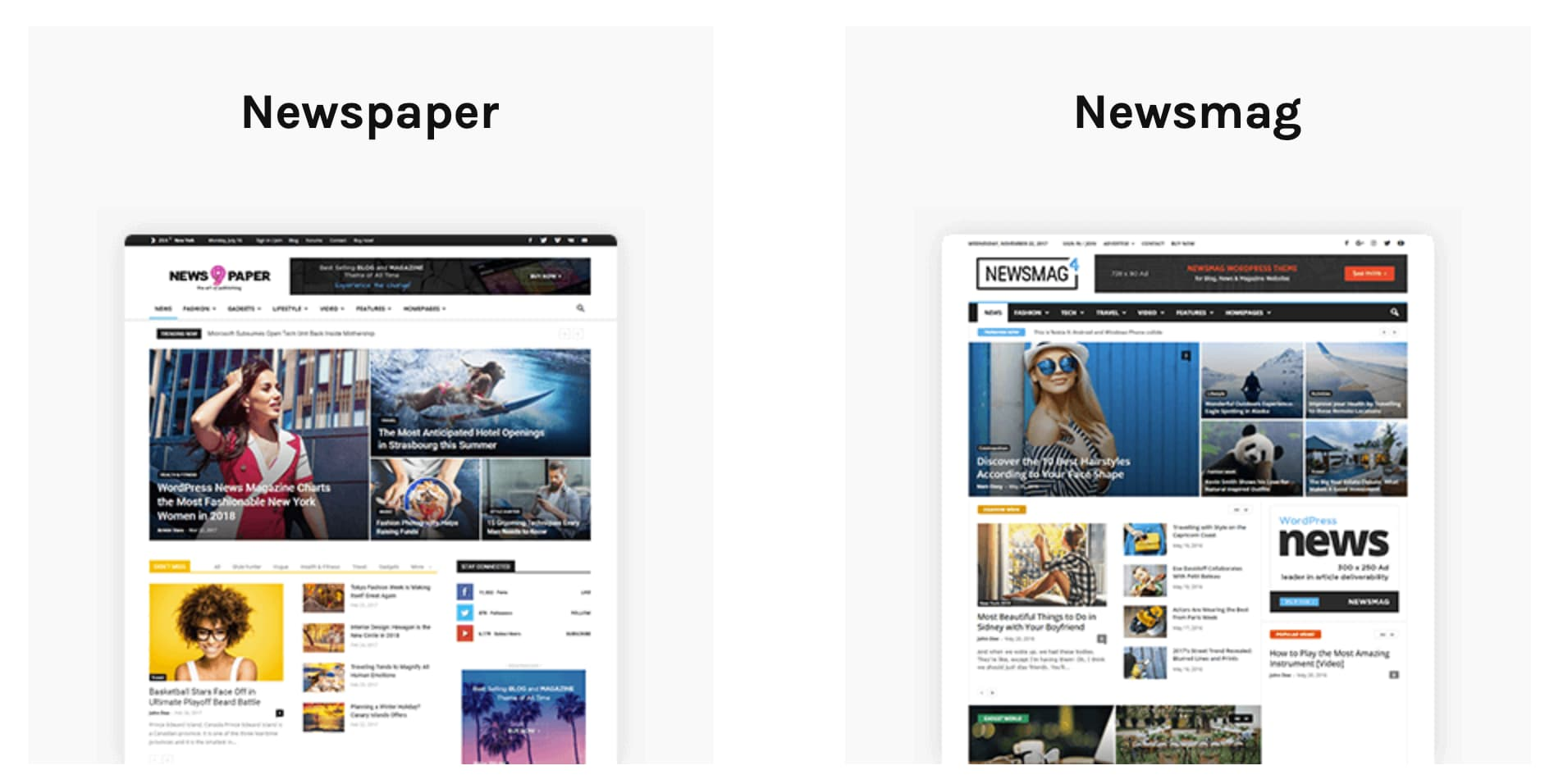 Newspaper and Newsmag WordPress themes