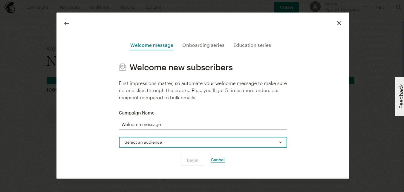Mailchimp autoresponder email