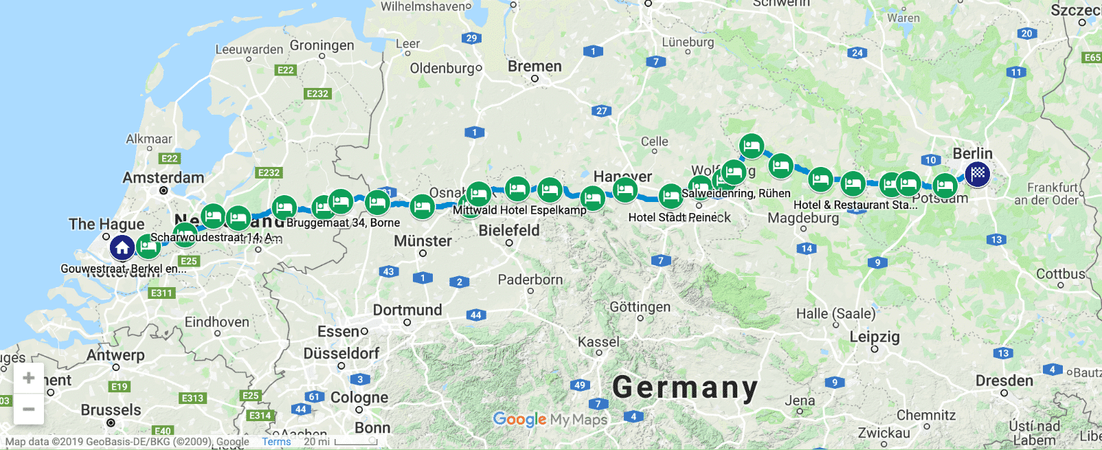 Walk to WordCamp Europe route