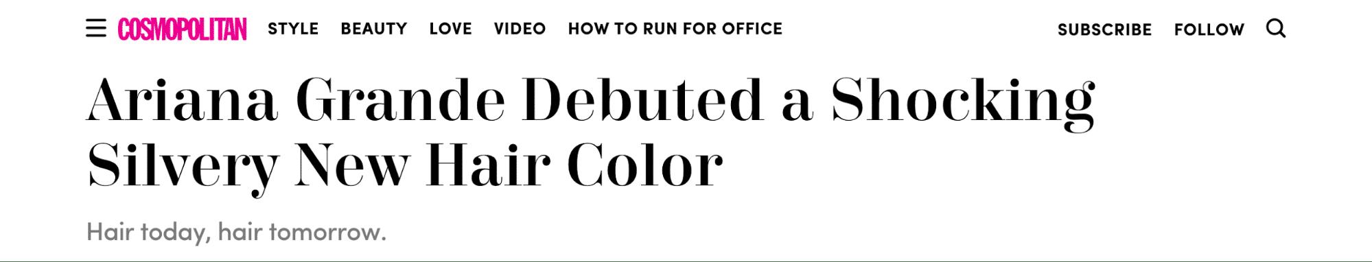 Cosmopolitan headline