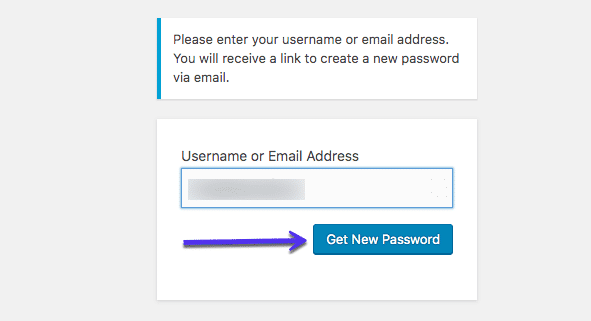 How to get a new WordPress password