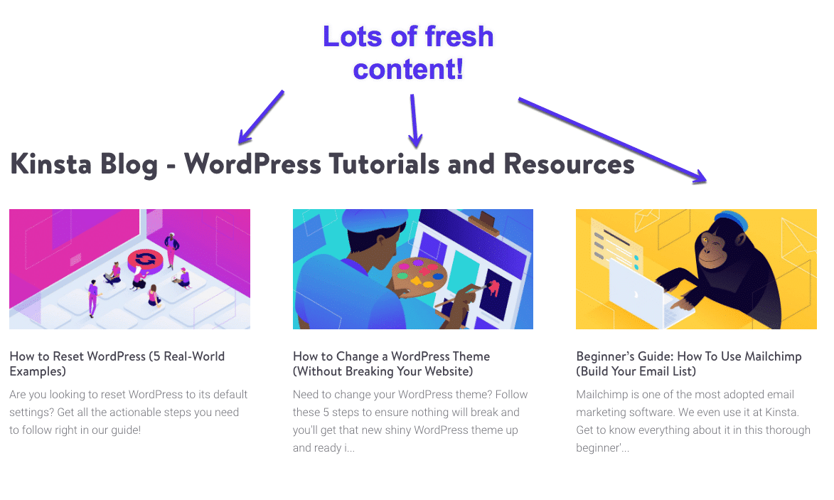 Recently published content on the Kinsta Blog