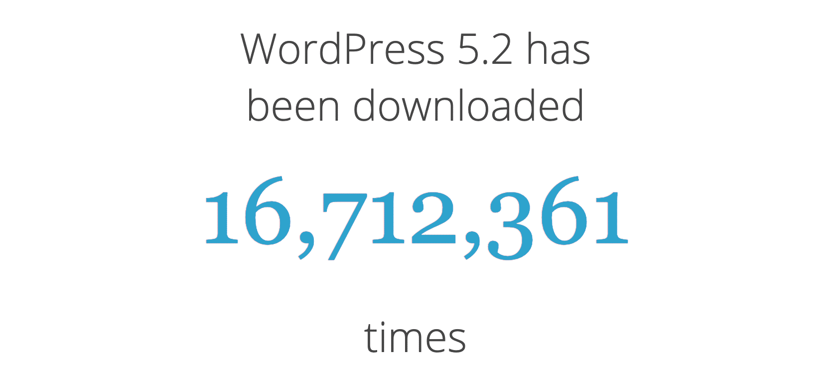 WordPress 5.2 download count