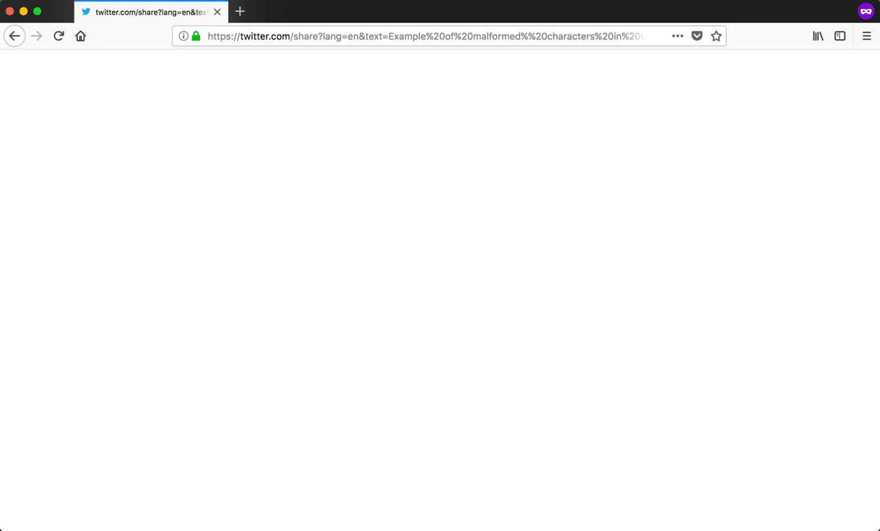400 bad request error in Firefox