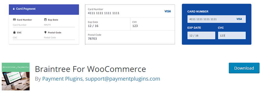 Braintree For WooCommerce plugin