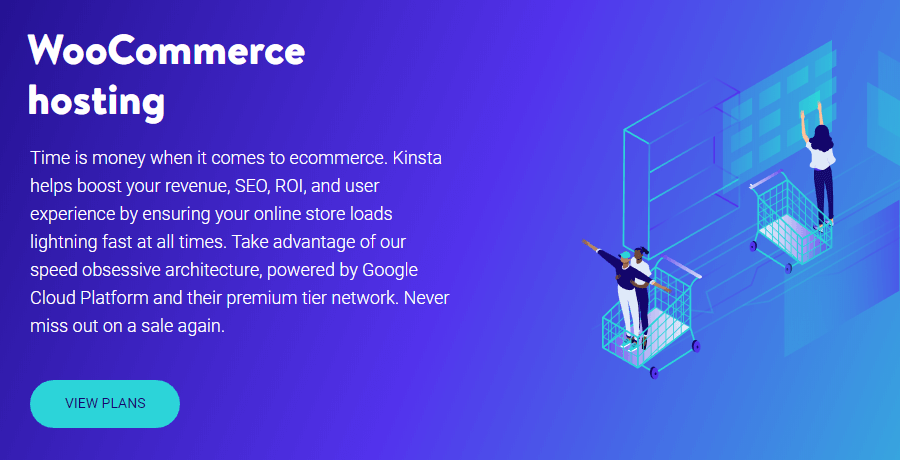 WooCommerce hosting plans at Kinsta