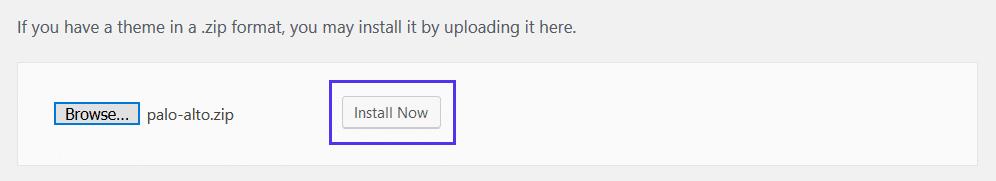 Install a premium WordPress theme