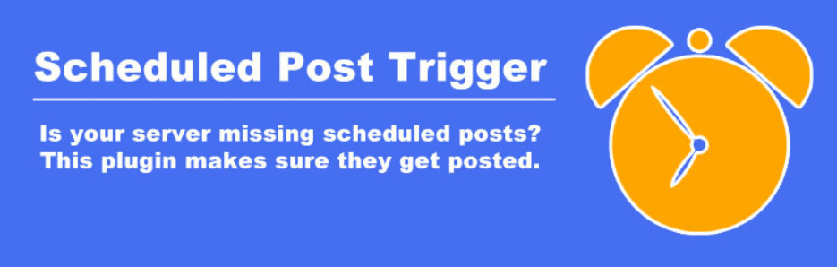 Scheduled posts trigger plugin
