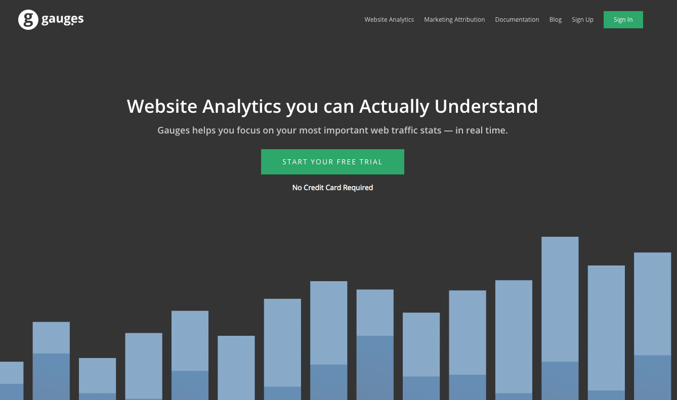 Google Analytics alternatives: gauges