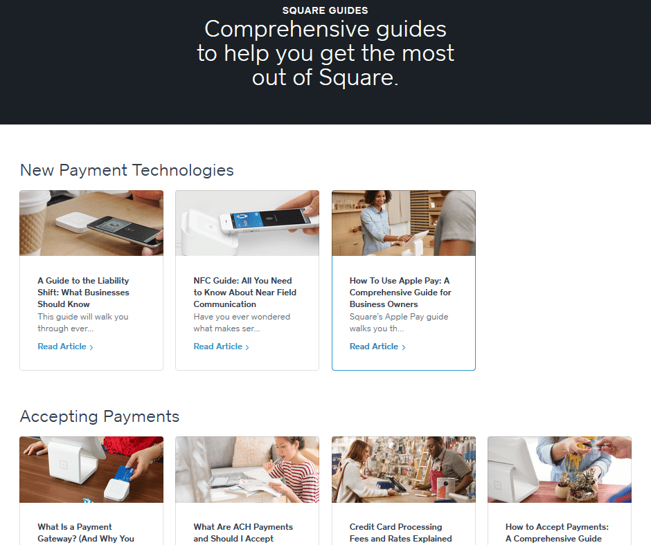 Square guides