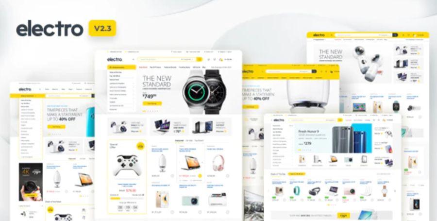 WooCommerce theme: Electro Electronics Store