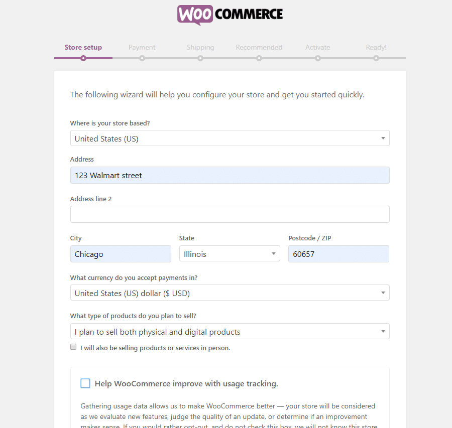 WooCommerces installationsguide