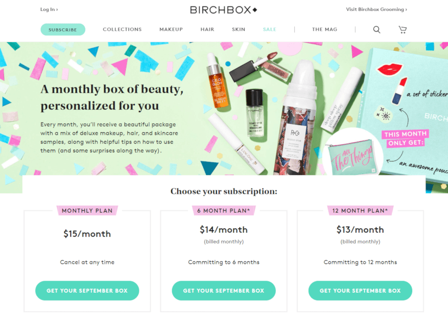 Birchbox subscription site