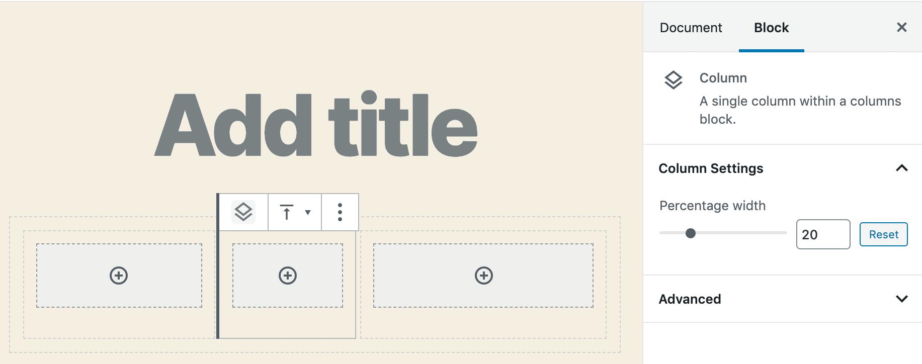 WordPress 5.3中的Columns块
