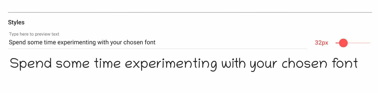 experimenting with your font