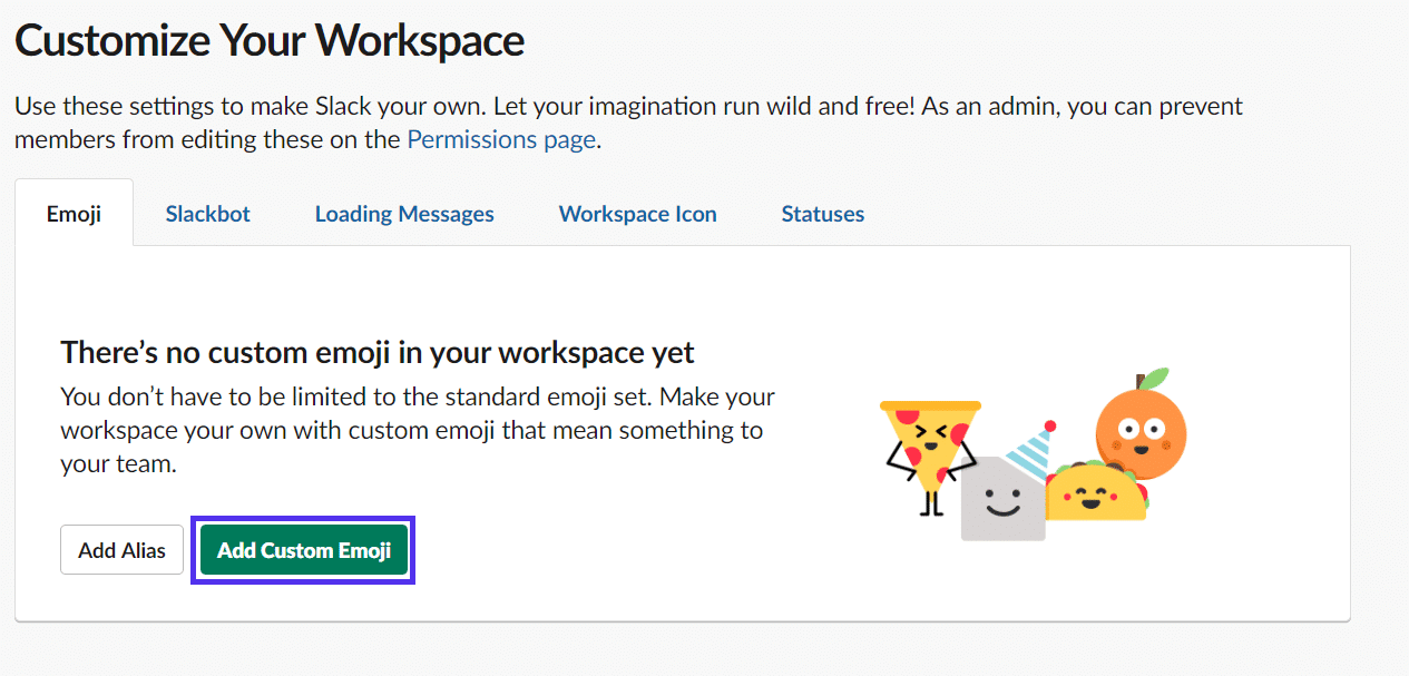 slack add custom emoji