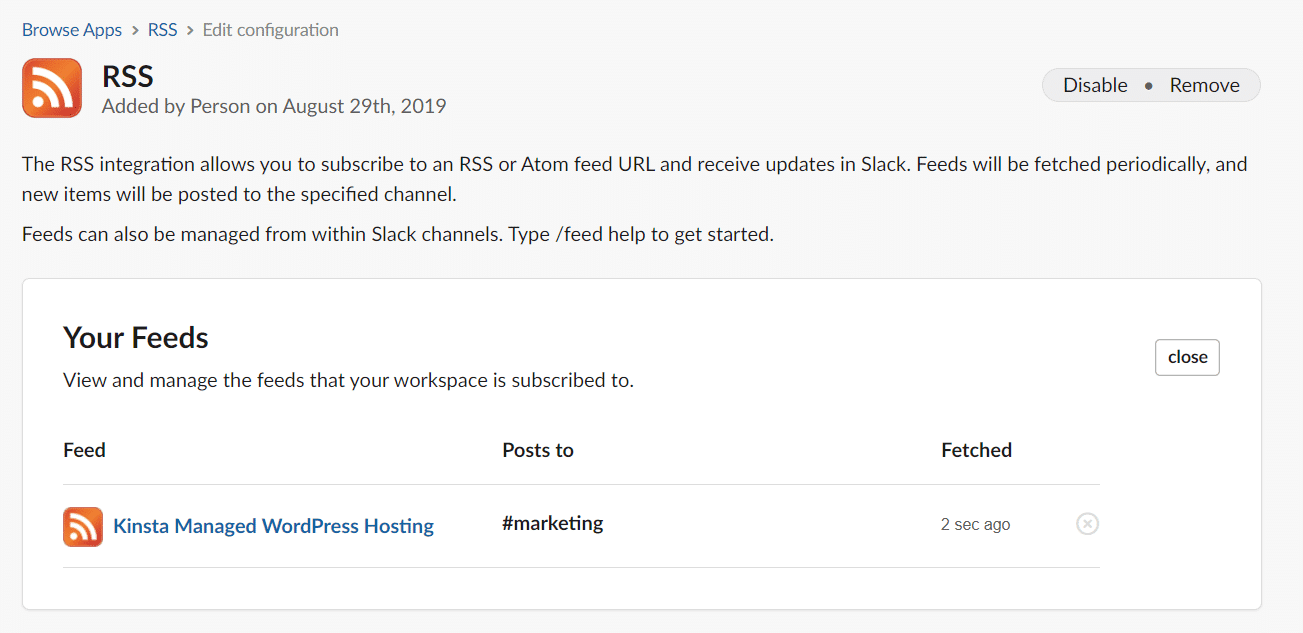 slack rss your feeds