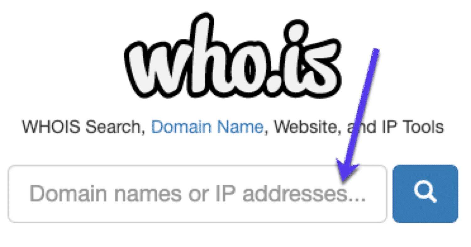 Find email address: WHOIS lookup