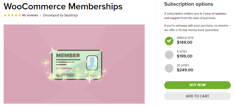 woocommerce membership extension