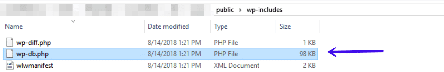 The wp-db.php file