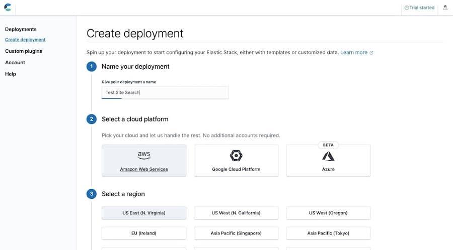 Elastic simplifies your first Elasticsearch deployment.