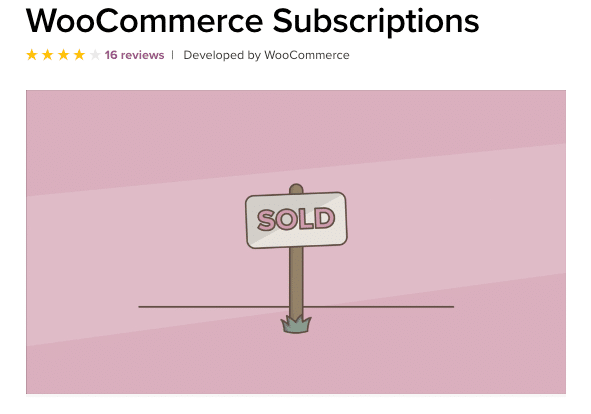 The WooCommerce Subscriptions extension