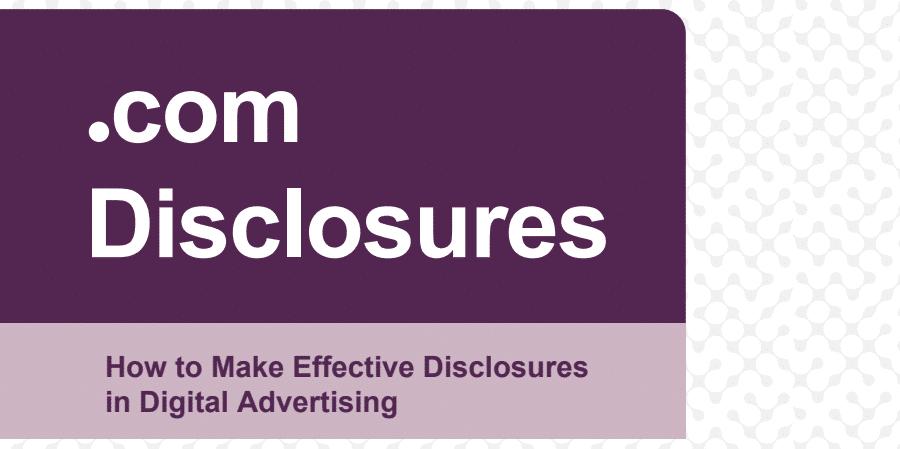 ftc disclosures pdf