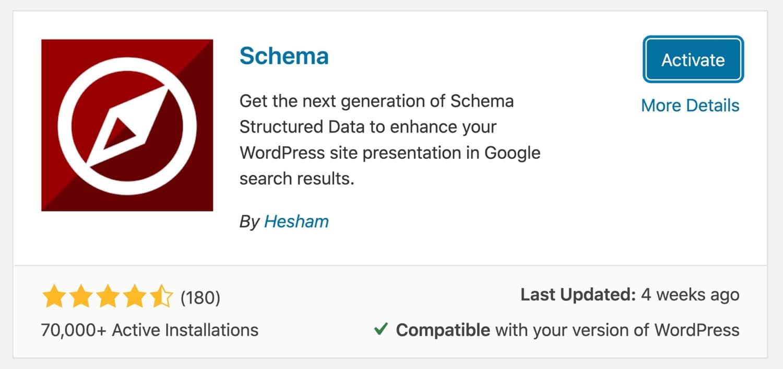 Installing the Schema plugin