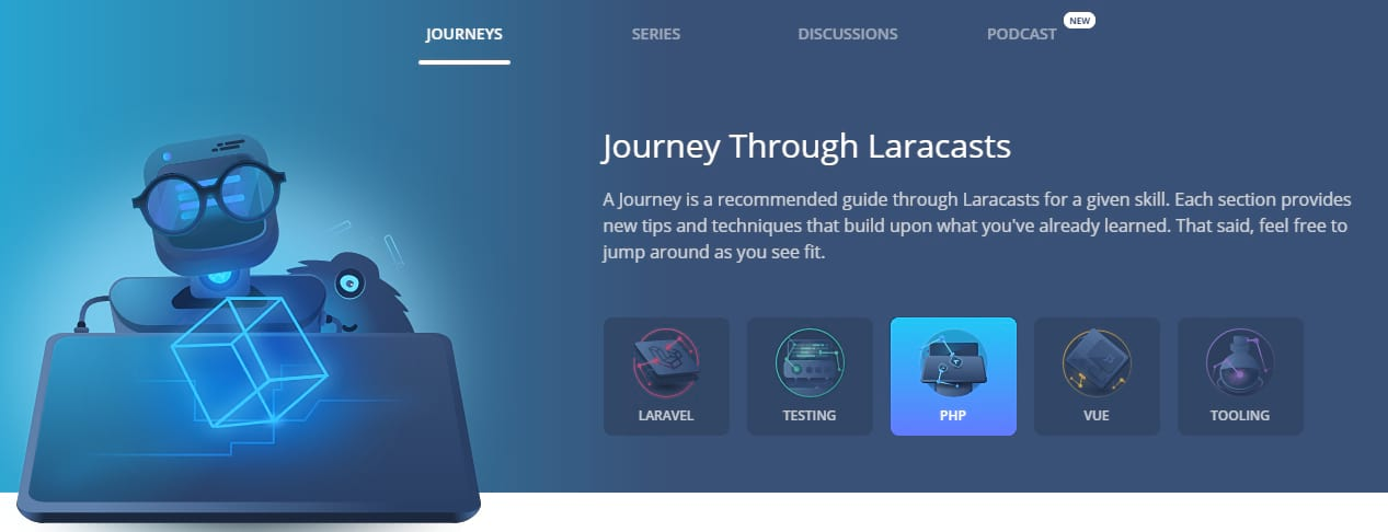 Best PHP tutorials - laracasts journey