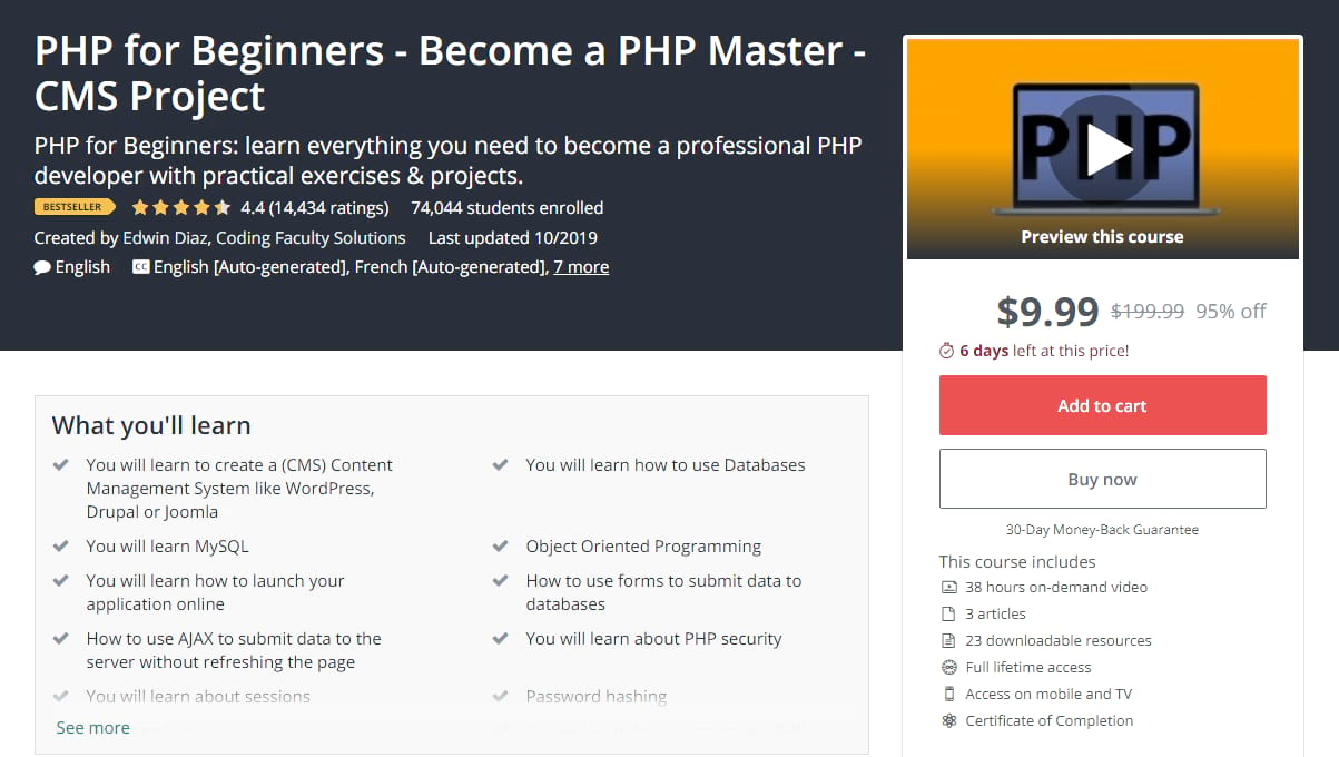 Best PHP tutorials - php for beginners