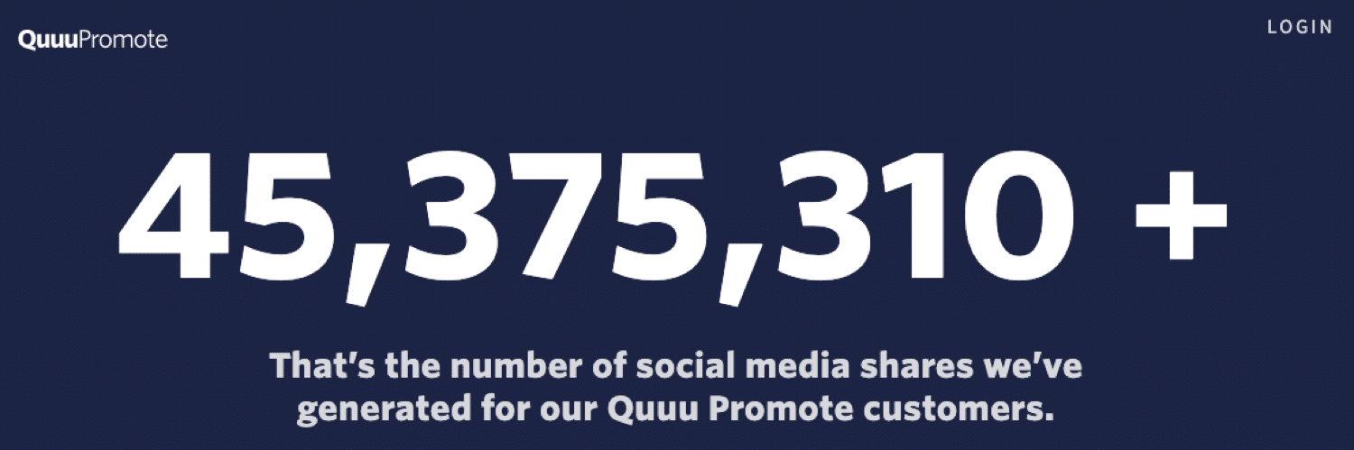 Quuu Promote can help you generate lots of social shares
