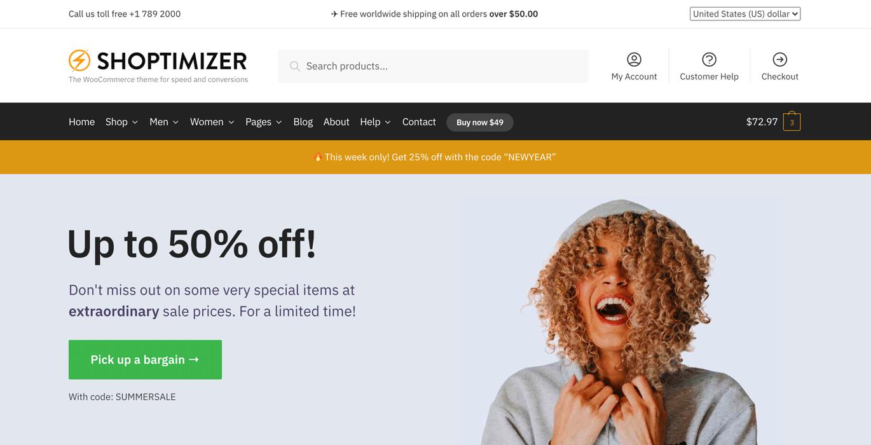 Shoptimizer WooCommerce-tema