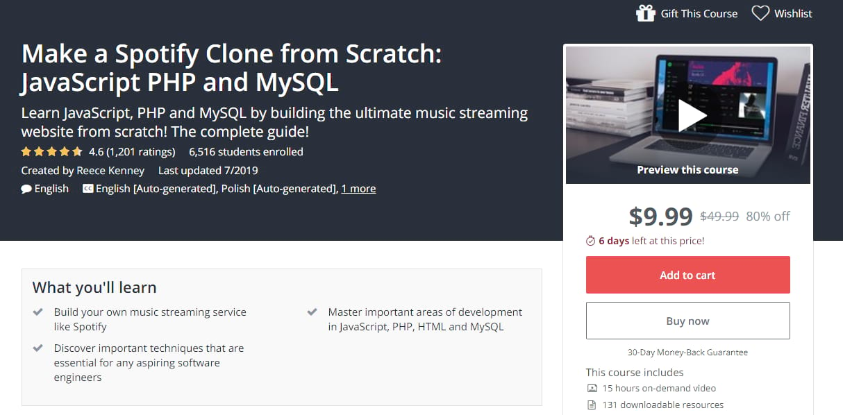 spotify clone php