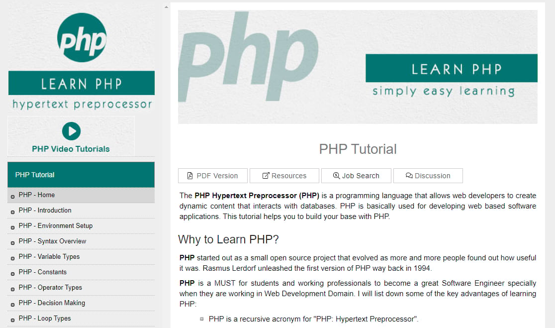 tutorialspoint php