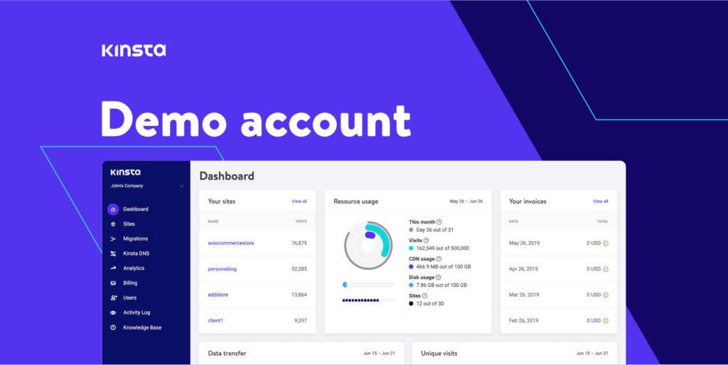 Kinsta demo page