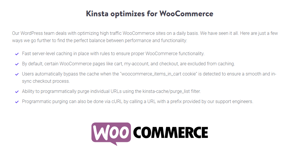kinsta woocommerce optimization