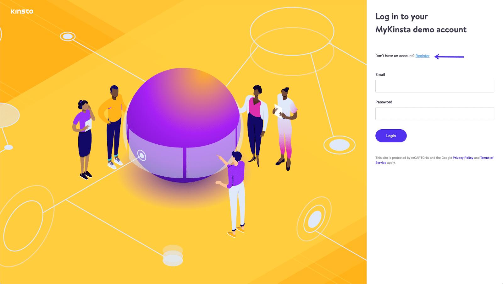 mykinsta demo page