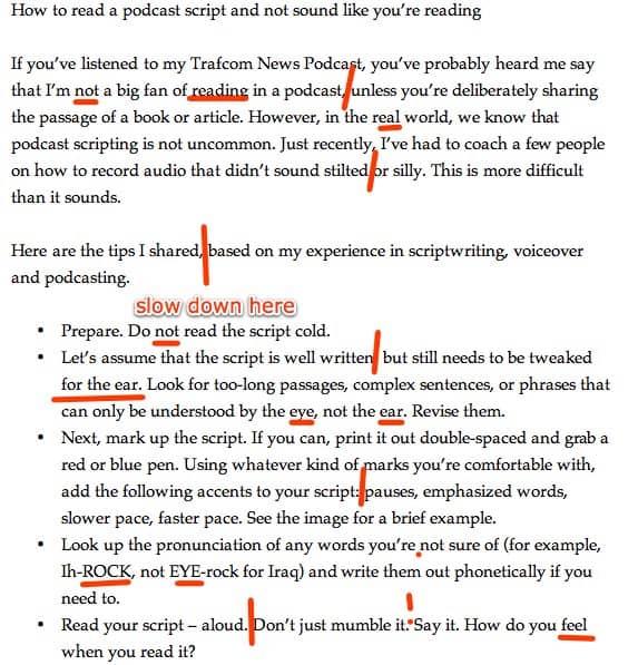 Script template example